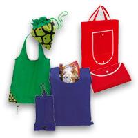 Bedruckte faltbare Einkaufstaschen bei Saalfrank bereits ab Kleinstmengen