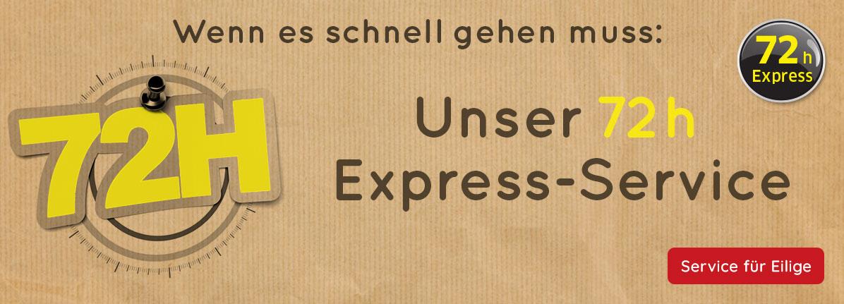 72h Express-Service – Saalfrank Qualitäts-Werbeartikel