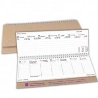 Querkalender mit werbung bedrucken saalfrank for Schreibtisch querkalender