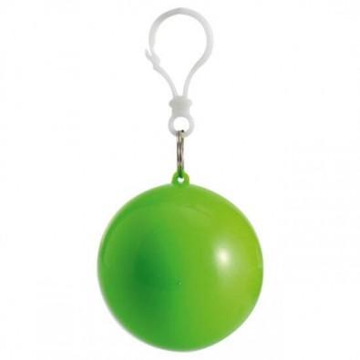 Notfallponcho im Kunststoffball, Apfelgrün