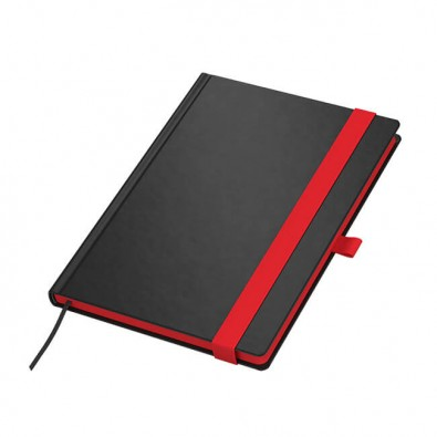Color-Book DIN A5 Tivoli Soft, Schwarz/Rot