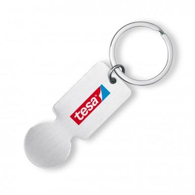 Einkaufs-Schlüsselanhänger, Silber