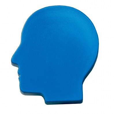 Magnet Kopf, standard-blau PS