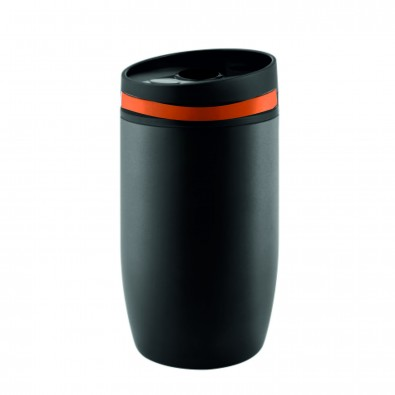 Thermobecher Cup to go, Schwarz/Orange