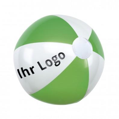 Wasserball, Grün/Weiß/Glänzend