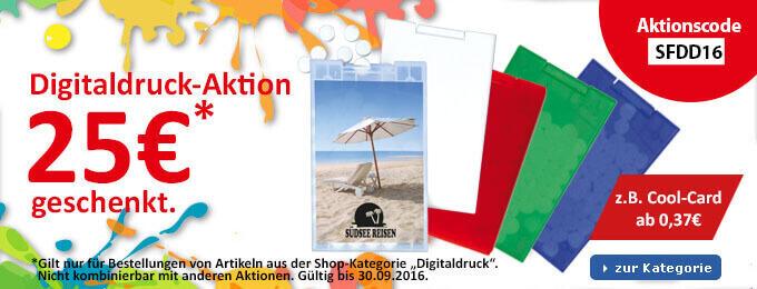 Digitaldruck-Aktion